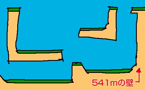 全力側転 541mの壁